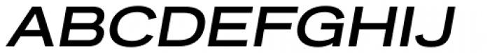 Reservation Wide Bold Oblique Font UPPERCASE