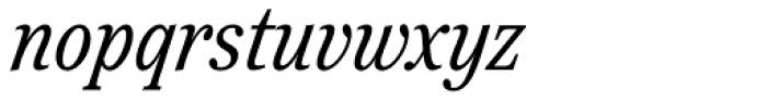 Reserve Condensed Italic Font LOWERCASE