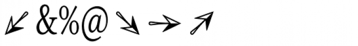 Reserve Dingbats Font OTHER CHARS