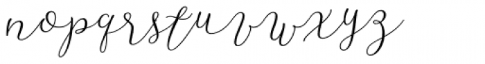 Resort Script Light Font LOWERCASE