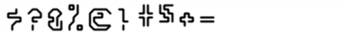 Retcon Square Fifty Font OTHER CHARS
