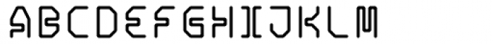 Retcon Square Fifty Font UPPERCASE