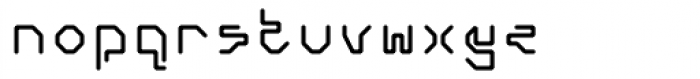 Retcon Square Fifty Font LOWERCASE