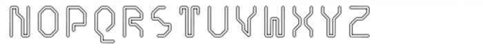 Retcon Square Outline Font UPPERCASE