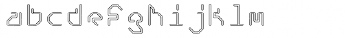 Retcon Square Outline Font LOWERCASE