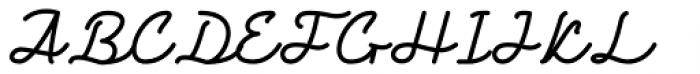 Retro One Regular Font UPPERCASE