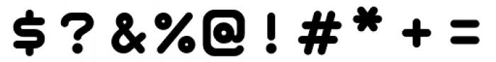 Retrograde Bold Font OTHER CHARS