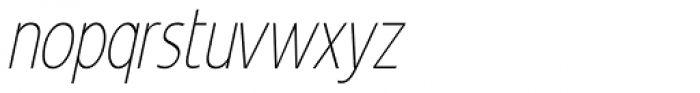 Revalo Classic Thin Italic Font LOWERCASE