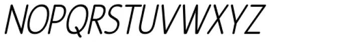 Revalo Modern Light Italic Font UPPERCASE