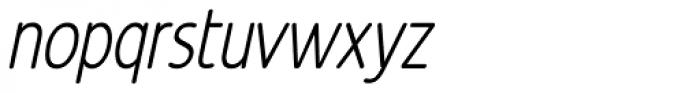 Revalo Modern Light Italic Font LOWERCASE