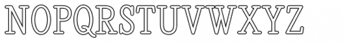 Revelation BTN Cond Outline Font UPPERCASE