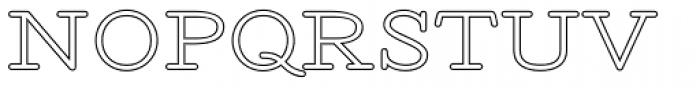 Revelation BTN Exp Outline Font UPPERCASE