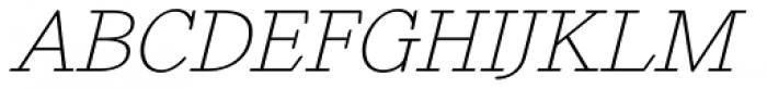 Revelation BTN Oblique Font UPPERCASE
