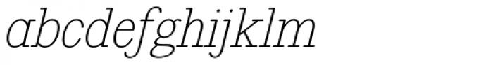Revelation BTN Oblique Font LOWERCASE