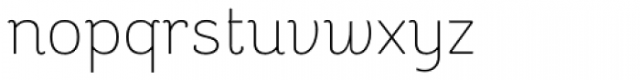 Reverie OT Light Font LOWERCASE