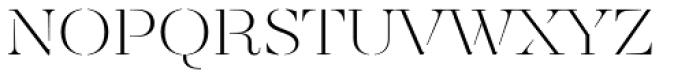 Revista Stencil Light Font LOWERCASE