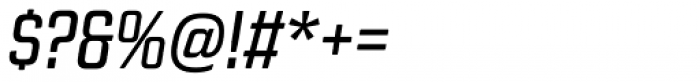 Revolution Gothic Italic Font OTHER CHARS
