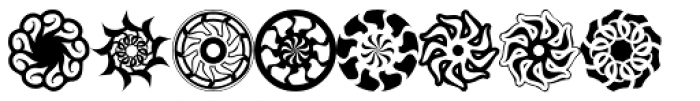 RevolutionNine Font LOWERCASE