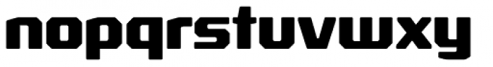 Rexlia Heavy Font LOWERCASE