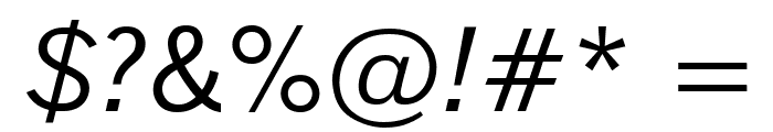 Reporter Oblique Font OTHER CHARS