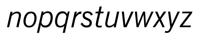 Reporter Oblique Font LOWERCASE