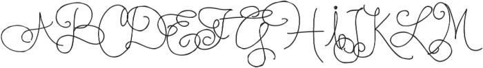 RF BonAppetit ttf (400) Font UPPERCASE