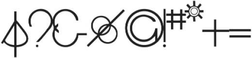 RF Decor ttf (400) Font OTHER CHARS