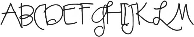 RF LuLu ttf (400) Font UPPERCASE