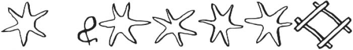 RF Marshall Art Regular otf (400) Font OTHER CHARS