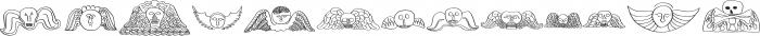 RF Marshall Art Regular otf (400) Font UPPERCASE