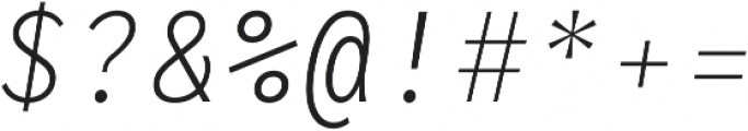 RF Rostin Ultralight Italic ttf (300) Font OTHER CHARS