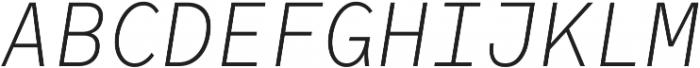 RF Rostin Ultralight Italic ttf (300) Font UPPERCASE