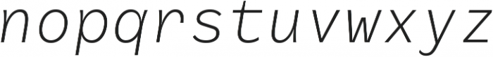 RF Rostin Ultralight Italic ttf (300) Font LOWERCASE