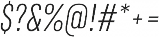 RF Rufo Light Italic ttf (300) Font OTHER CHARS