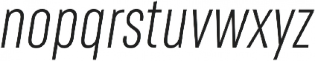 RF Rufo Light Italic ttf (300) Font LOWERCASE