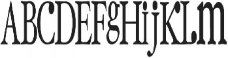 RF SackOPotatoes ttf (400) Font UPPERCASE