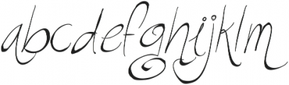 RF Sketchbook ttf (400) Font LOWERCASE