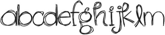 RF Sol Man ttf (400) Font LOWERCASE
