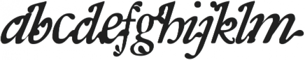 RF SpanishMoss ttf (400) Font LOWERCASE