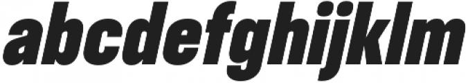 RF Takt Black Italic otf (900) Font LOWERCASE