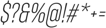 RF Takt Light Italic otf (300) Font OTHER CHARS