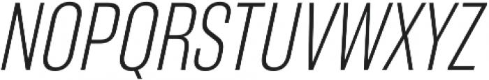 RF Takt Light Italic otf (300) Font UPPERCASE