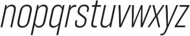 RF Takt Light Italic otf (300) Font LOWERCASE