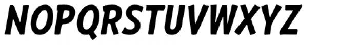 RF Barbariska Oblique Italic Font UPPERCASE