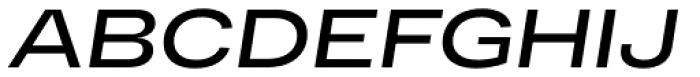 RF Dewi Expanded Semibold Italic Font UPPERCASE