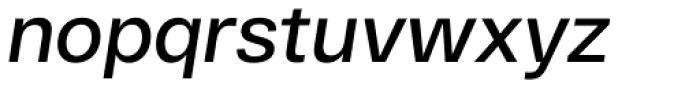 RF Dewi Semibold Italic Font LOWERCASE
