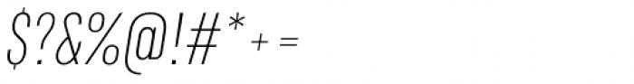 RF Rufo Thin Italic Font OTHER CHARS