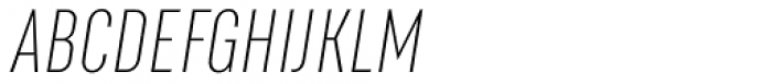 RF Rufo Thin Italic Font UPPERCASE