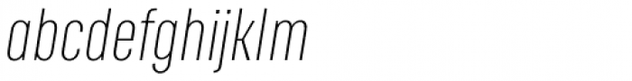 RF Rufo Thin Italic Font LOWERCASE