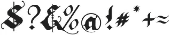 Rhapsody Black Letter otf (900) Font OTHER CHARS